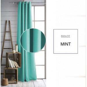 Dekoračné závesy na okná mentolovej farby