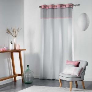 Hotové závesy do spálne ružovej farby
