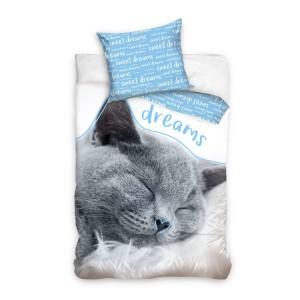 Bavlnené obliečky s mačkou
