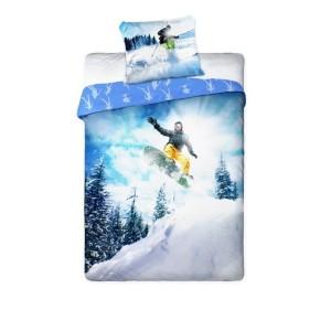 Detská posteľná bielizeň snowboard