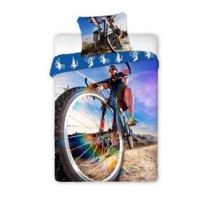 Chlapčenské obliečky s bicykolom