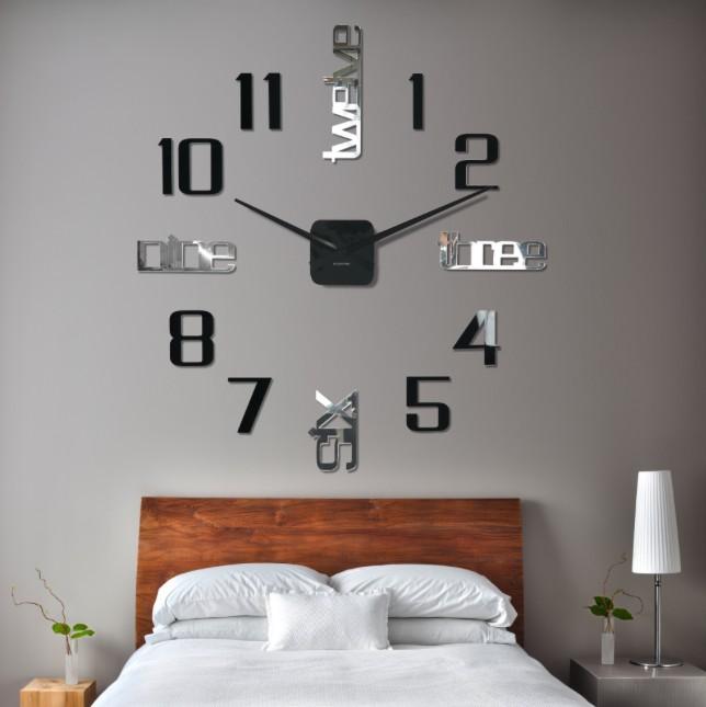 DomTextilu Nalepovacie hodiny na stenu 11138