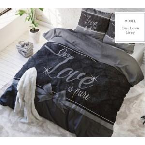 Bavlnená posteľná bielizeň sivej farby