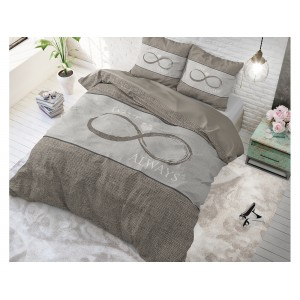 Hnedé obliečky na posteľ so vzorom