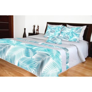 Prikrývka na posteľ sivej farby