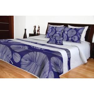Prikrývka na posteľ sivá moderná