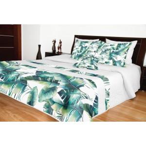 Prikrývka na posteľ s listami
