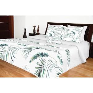Prikrývka na posteľ biela prešívaná