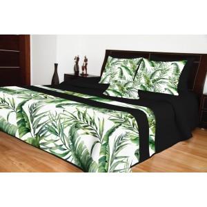 Prehozy na posteľ čierne s prírodným motívom
