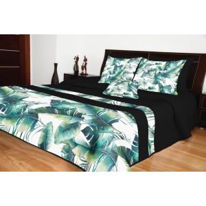 Prikrývky na posteľ v čiernej farbe prešívané