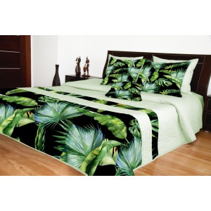 Prehoz na posteľ zelný