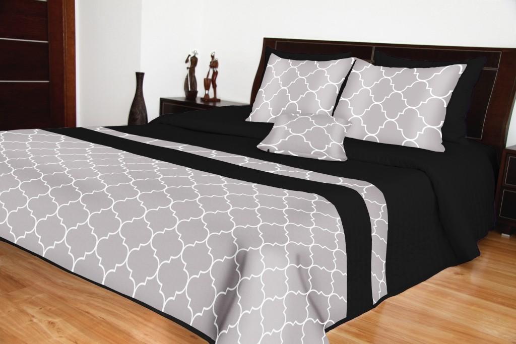 DomTextilu Prikrývky na posteľ čierne luxusné Šírka: 200 cm   Dĺžka: 220 cm 11379-124030