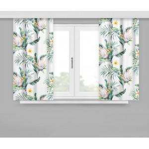 Kvetinové závesy biele štýlové