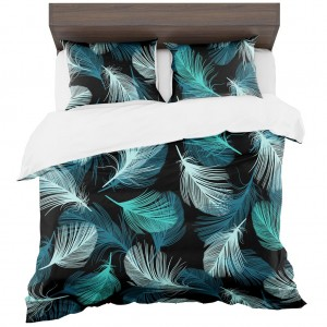 Obliečky na posteľ s motívom pierok