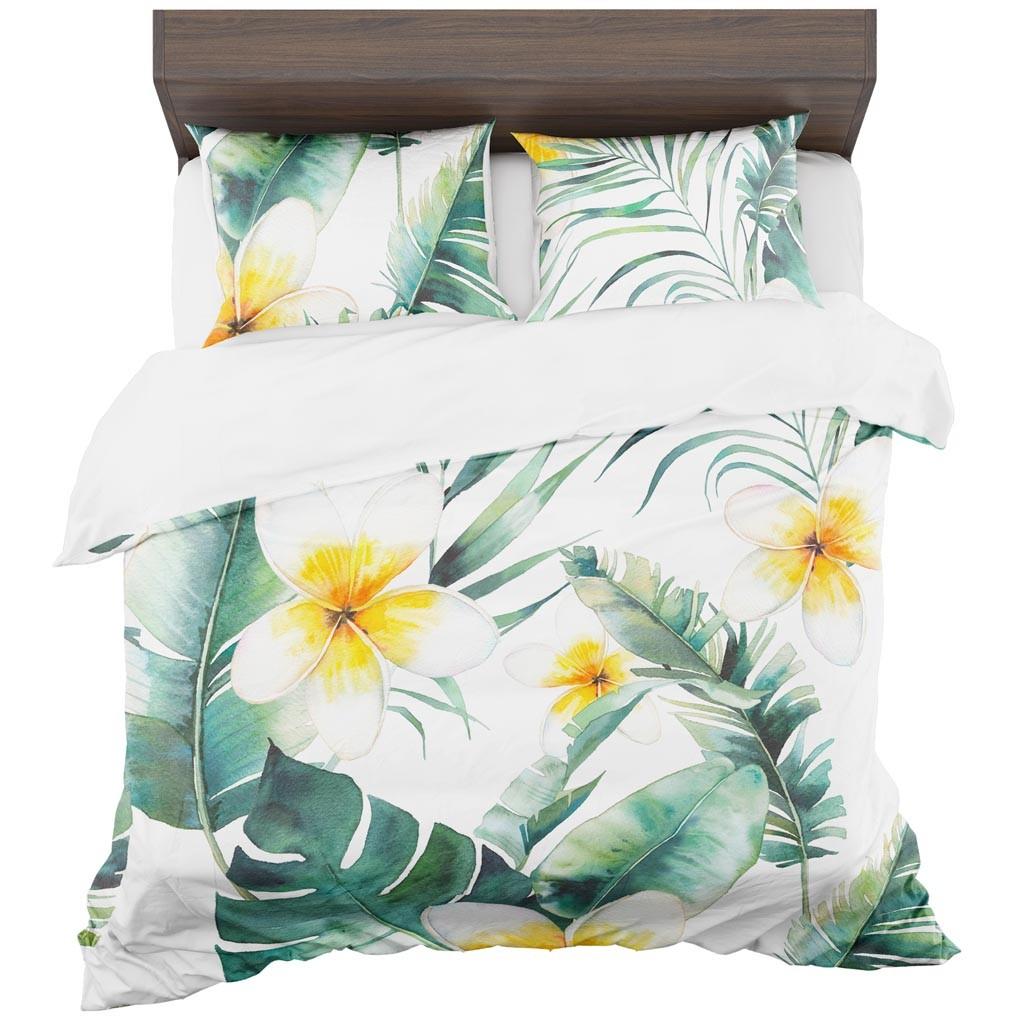 DomTextilu Krásne obliečky s kvetmi 2 časti: 1ks 140 cmx200 + 1ks 70 cmx80 11457-35954