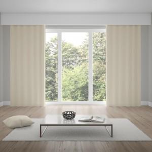 Jednofarebné závesy sivo béžovej farby