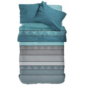 Bavlnené posteľné obliečky tyrkysové