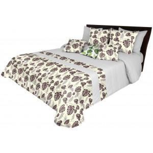 Moderný prehoz na posteľ béžovej farby