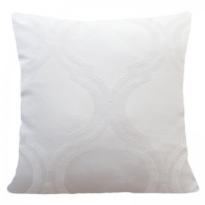 Návliečka na vankúš s jemným vzorom v bielej farbe