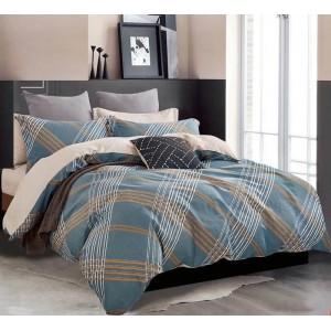 Posteľná obliečka s moderným vzorom v modrej farbe