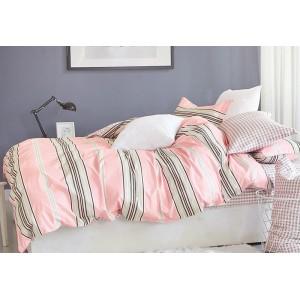 Obojstranné posteľné návliečky v ružovej farbe