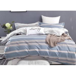Obliečky na posteľ v sivej farbe s béžovým vzorom