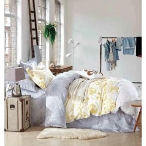 Obojstranné posteľné obliečky v rozmere 160x200 v žlto sivej farbe