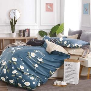 Obojstranné posteľné obliečky s motívom kvetov