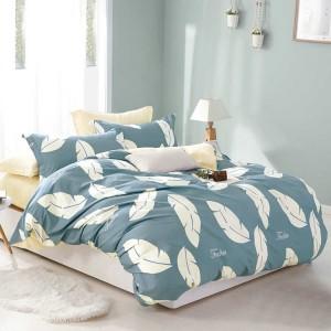 Obliečky na posteľ tmavo modré s potlačou