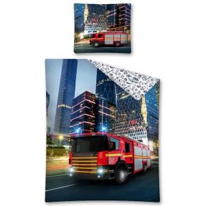 Detské posteľné obliečky s motívom hasičského auta