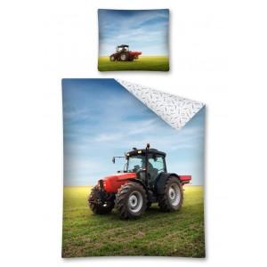 Chlapčenská posteľná obliečka s traktorom na poli
