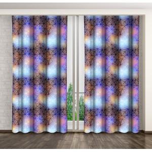 Luxusné dekoračné závesy fialovej farby