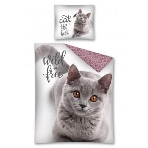 Moderná obliečka pre deti s motívom mačky