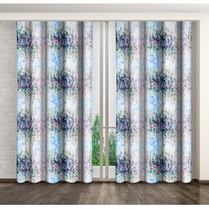 Luxusné dekoračné závesy s farebným motívom