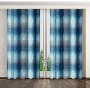 Dekoračné závesy na okná modrej farby