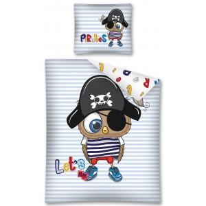 Moderné obliečky pre najmenšie deti s pirátom vrabcom