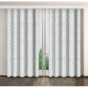 Sivo biely dekoračný záves do obývačky