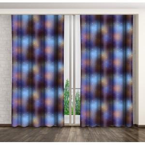Dekoračný záves fialovo modrej farby