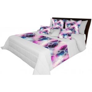 Sivá prikrývka na posteľ s motívom sŕdc