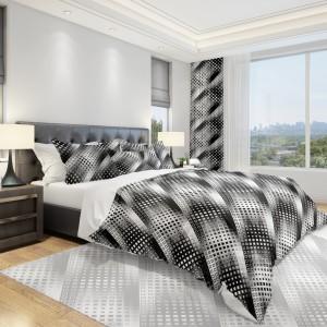 Moderné čierno-biele obliečky do spálne