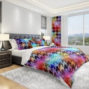 Dúhové obliečky na posteľ s moderným vzorom