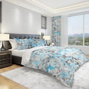 Moderná posteľná obliečka v sivo-modrej farbe