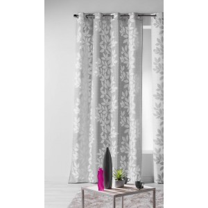 Luxusné závesy sivej farby s bielym vzorom