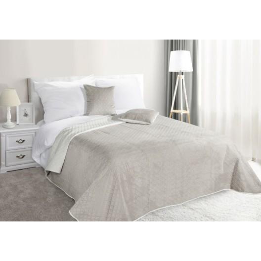 Béžové obojstranné prikrývky na posteľ