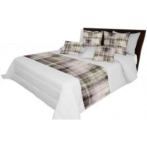 Sivé prikrývky na posteľ s farebnou potlačou