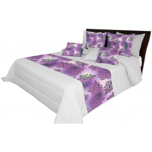 Luxusný fialovo sivý prehoz na posteľ