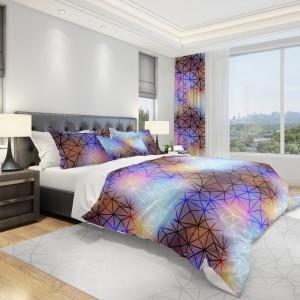 Farebná návliečka na posteľ s abstraktným vzorom