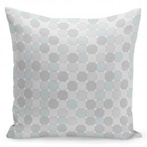 Štýlová vzorovaná obliečka na vankúše 50x60 cm v sivej farbe