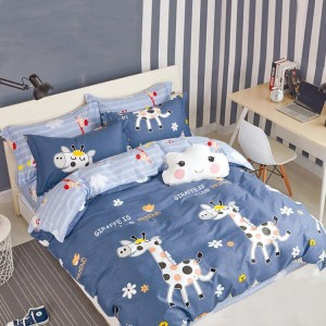 Originálna modrá obliečka pre deti s motívom žirafy