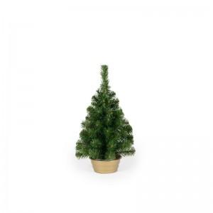 Malý umelý vianočný stromček v kvetináči
